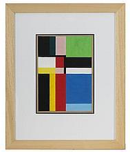 Étienne BEÖTHY (1897-1961) Composition, 1938 Gouache sur papier signée en b