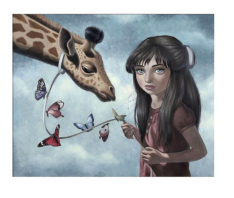 Ana BAGAYAN (1983) Flutter, 2010 Huile sur panneau signée en bas à droite 6