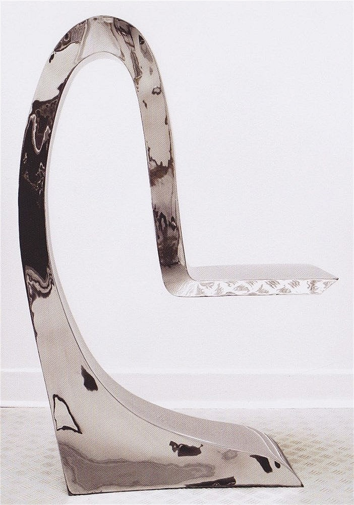 guillaume pi chaud 1968 chaise sculpture requin 2009 inox. Black Bedroom Furniture Sets. Home Design Ideas
