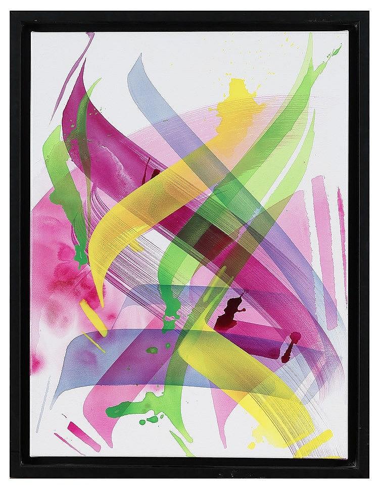 MADC (1980) 1646-2015, 205 Acrylique et spray sur toile, signé, daté et tit