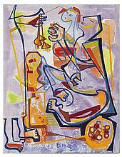 György LITKEY (1907-1975) Au Marché Huile sur toile signée en bas au milieu