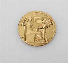 Médaille en or jaune 18K (750/oo) Agent de Change