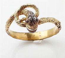Bracelet Jonc ancien ouvrant en or jaune 14K (585/