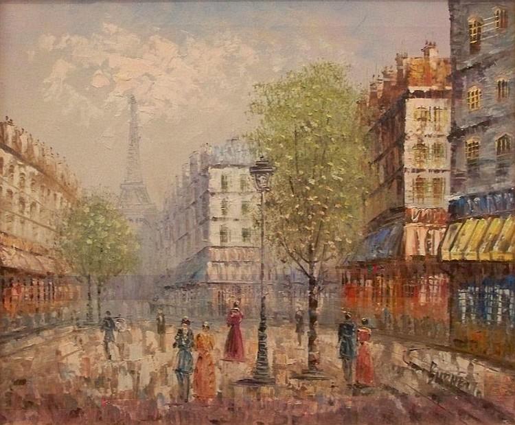 Louis Anthony Burnett (1907-1999) : Street Scene