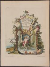 Knorr - Frontispiece with Fountain, Crowned Child, & Shells