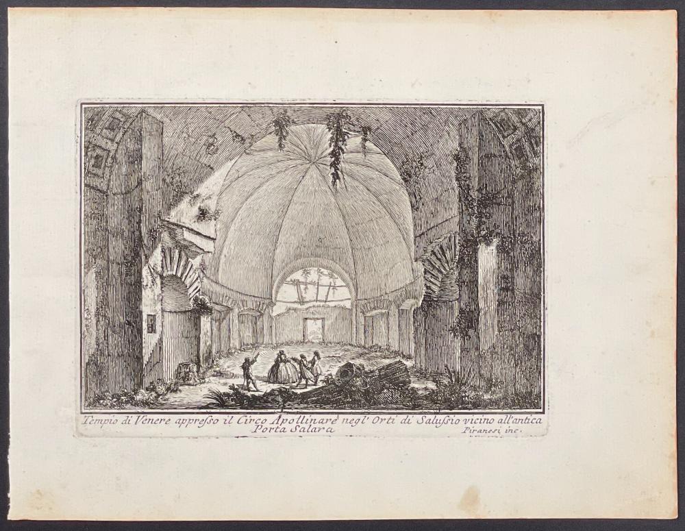 Piranesi - Temple of Venus (Tempio di Venere appresso il Circo Apollinare)