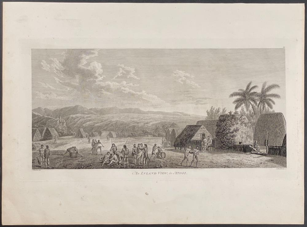 Captain Cook - An Inland View, in Atooi. 35