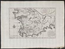 Salmon - Map of the Country of the Hottentots, towards the Cape of Good Hope from Kolben
