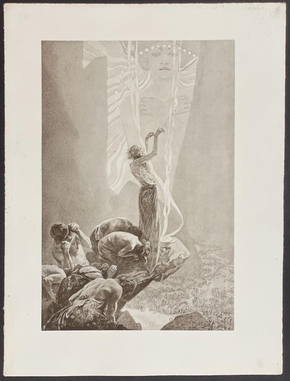 Mucha - Men Worshipping Woman