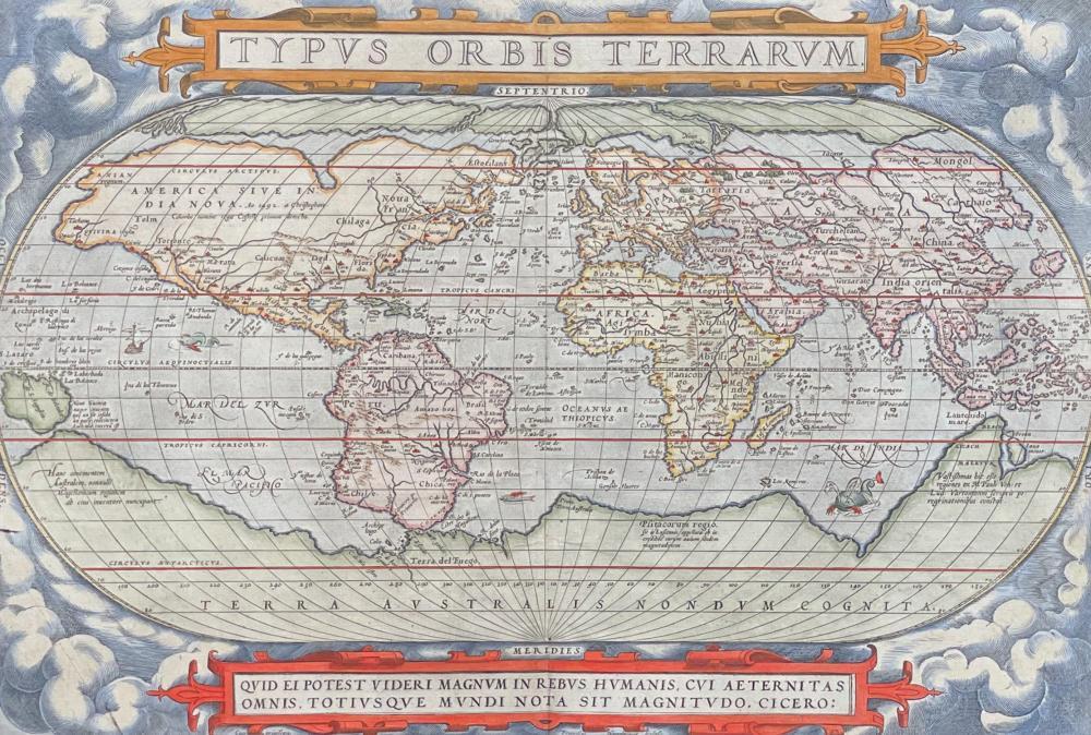 Ortelius - Map of the World published 1571 - Typus orbis terrarum