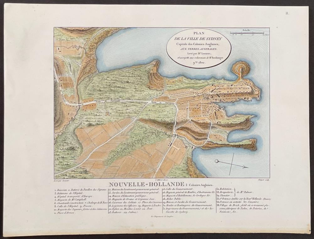 Peron - Plan of Sydney, Australia (New Holland)