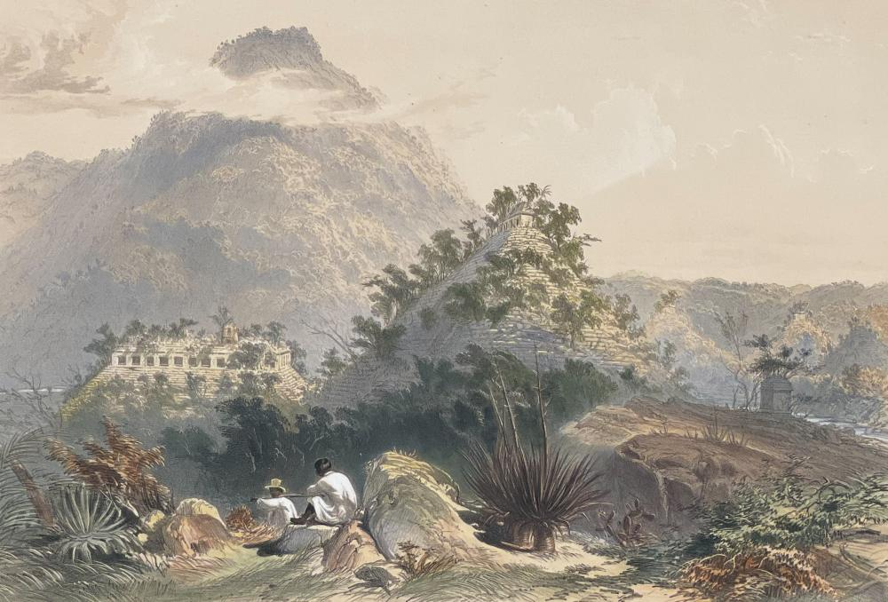 Catherwood - General View of Palenque. 6