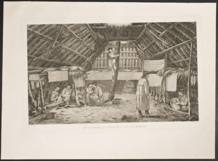 Cook - The Inside of a House in Oonalashka. 58