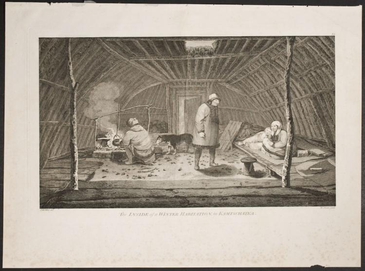 Cook - The Inside of a Winter Habitation, in Kamtschatka. 78