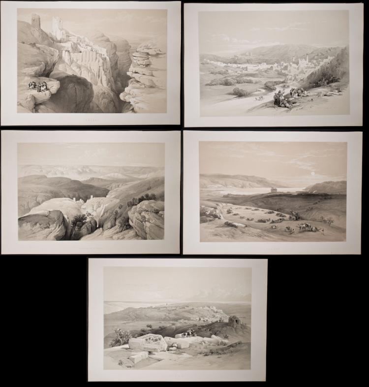 David Roberts - 5 Folio Lithographs