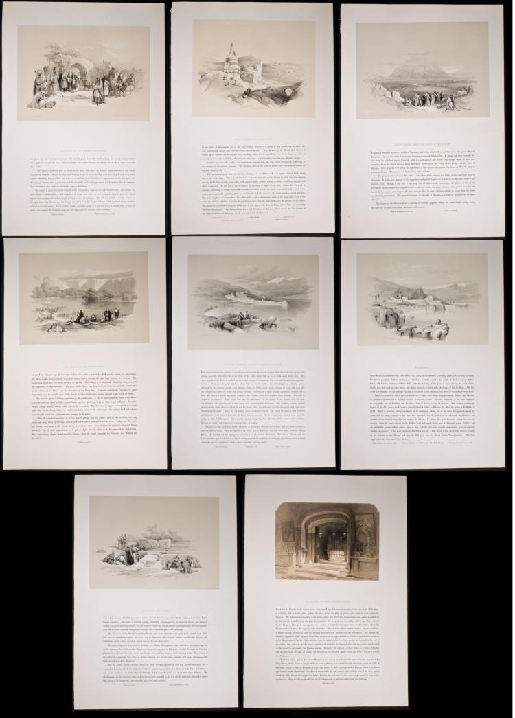 David Roberts - 8 Folio Lithographs