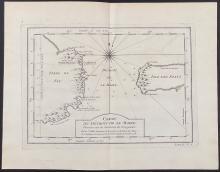 Salmon - Map of Le Maire's Strait; Carte du Detroit de la Maire