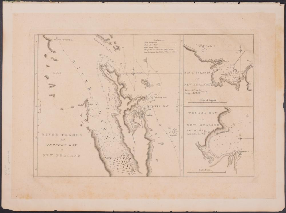 Lot 11013: Captain Cook - River Thames, Bay of Islands, and Tolaga Bay in New Zealand