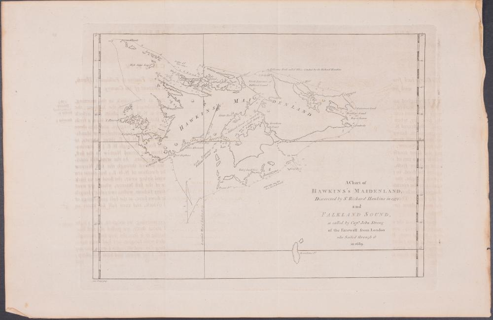 Lot 11012: Captain Cook - A Chart of Hawkin's Maidenland and Falkland Sound