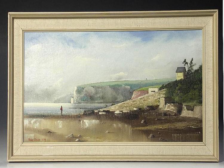 Oil Painting: Peter Jones 1974 - Culver Cliff, oil