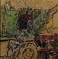 GEOFFREY SQUIRE A.R.S.A., R.S.W., R.G.I. (SCOTTISH 1923-2012) THE TRACTOR 28cm x 27.5cm (11in x 11in), Geoffrey Squire, Click for value