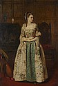 JAMES ARCHER R.S.A. (SCOTTISH 1823-1904) SERENADE 66cm x 45cm (26in x 17.75in)
