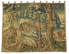 FLEMISH TAPESTRY PANEL 17TH CENTURY, PROBABLY BRUSSELS 352cm wide, 284cm high approx