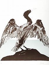 § ELISABETH FRINK R.A. (BRITISH 1930-1993) CORMORANT 65cm x 50cm (25.5in x 19.5in)