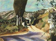§ EDWARD GAGE R.S.W. (SCOTTISH 1925-2000) ROCHECOLOMBE 56cm x 76cm (22in x 30in)