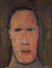 § DOUGLAS THOMSON (SCOTTISH B.1955) THE WRITER 67cm x 52cm (26.5in x 20.5in)