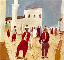 § ROBERT MACLAURIN (SCOTTISH B.1961) THE TURKISH WEDDING 40cm x 42cm (15.75in x 16.5in)