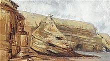 § ALEXANDRA KNUBLEY (SCOTTISH B.1969) RETREAT 60cm x 105cm (23.5in x 41.5in)