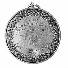 Aberdeen - A Scottish provincial farming medallion 5.2cm diameter, 24.2g