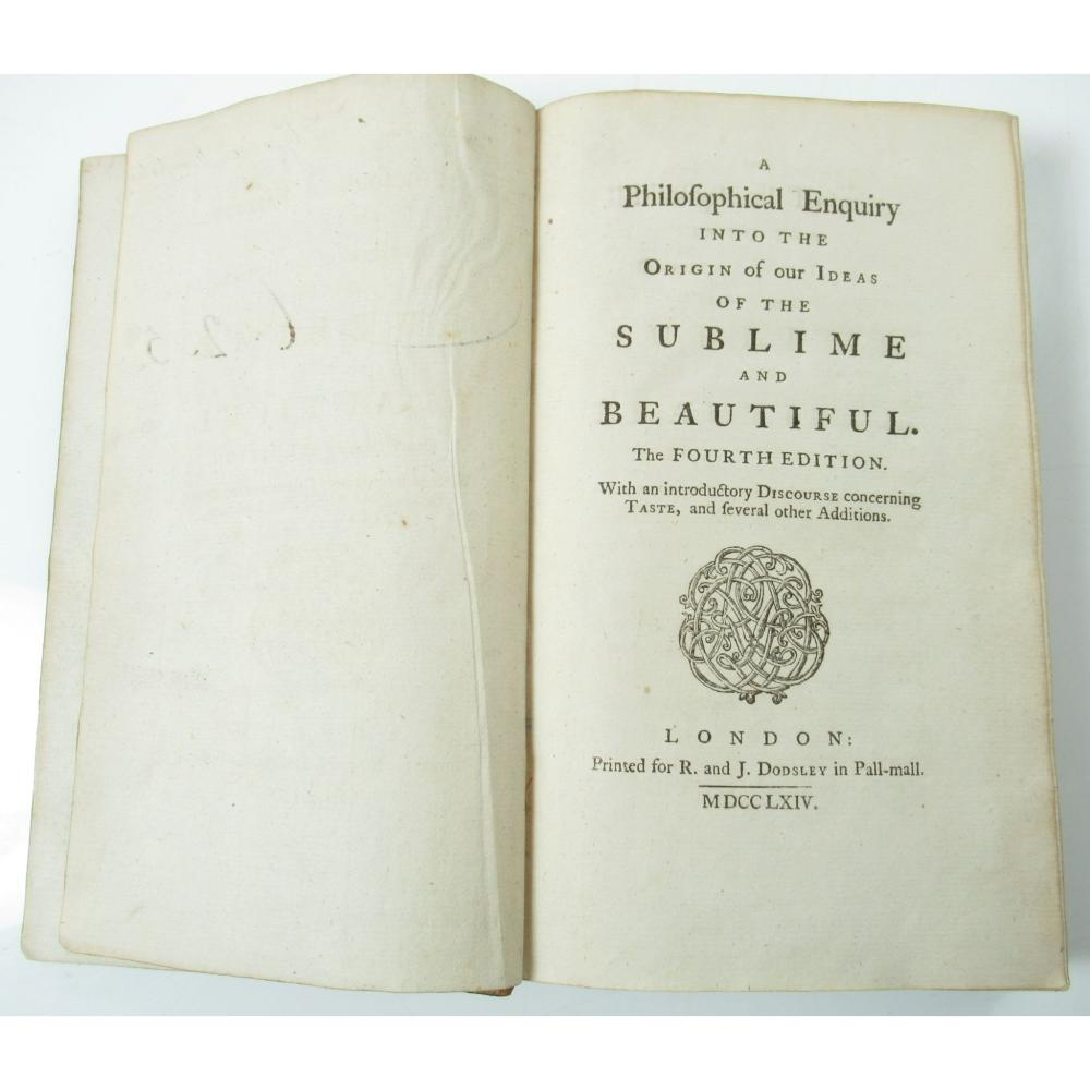 [BURKE, EDMUND] A PHILOSOPHICAL ENQUIRY INTO THE ORIGIN OF OUR IDEAS OF THE SUBLIME