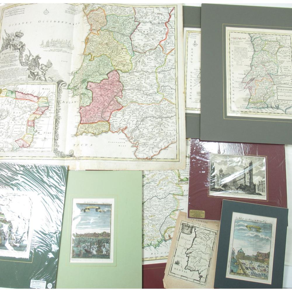 PORTUGAL: A COLLECTION OF MAPS INCLUDING HOMAN, JOHANN BAPTIST