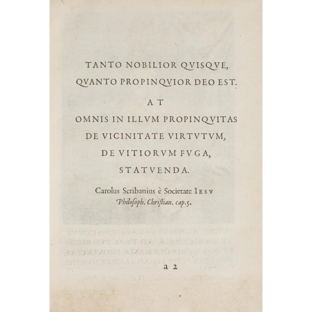 EMBLEM BOOK: PIETRASANTA, SYLVESTER DE SYMBOLIS HEROICIS LIBRI IX