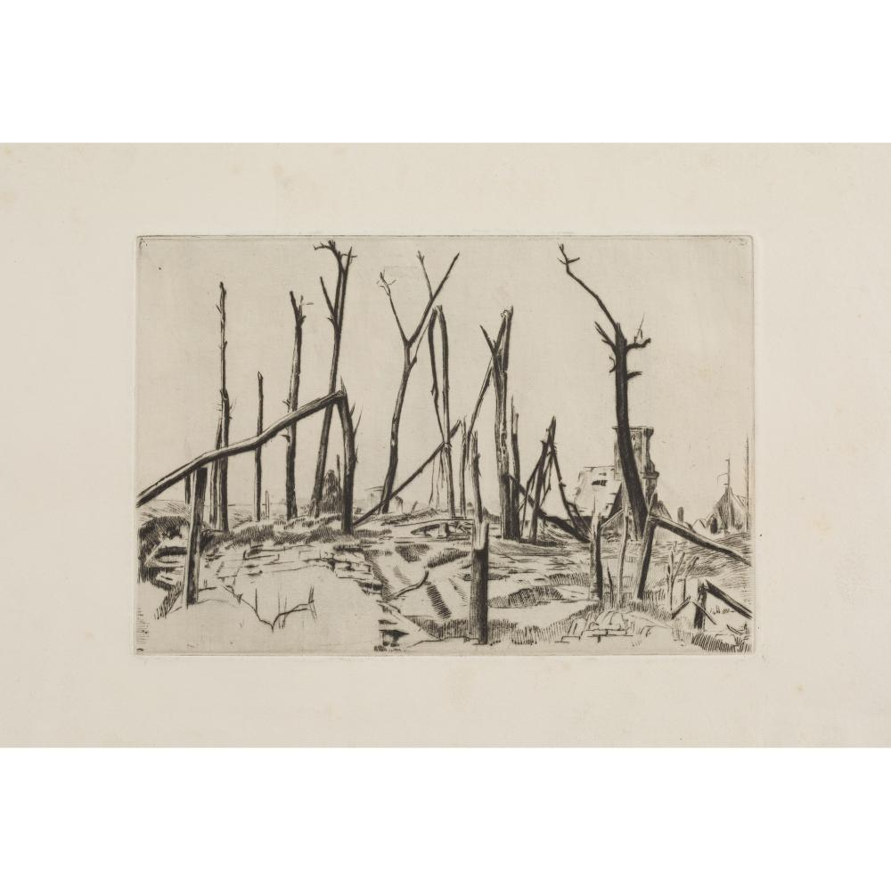 ROTHENSTEIN, SIR WILLIAM A COLLECTION OF 8 DRYPOINTS OF THE WESTERN FRONT
