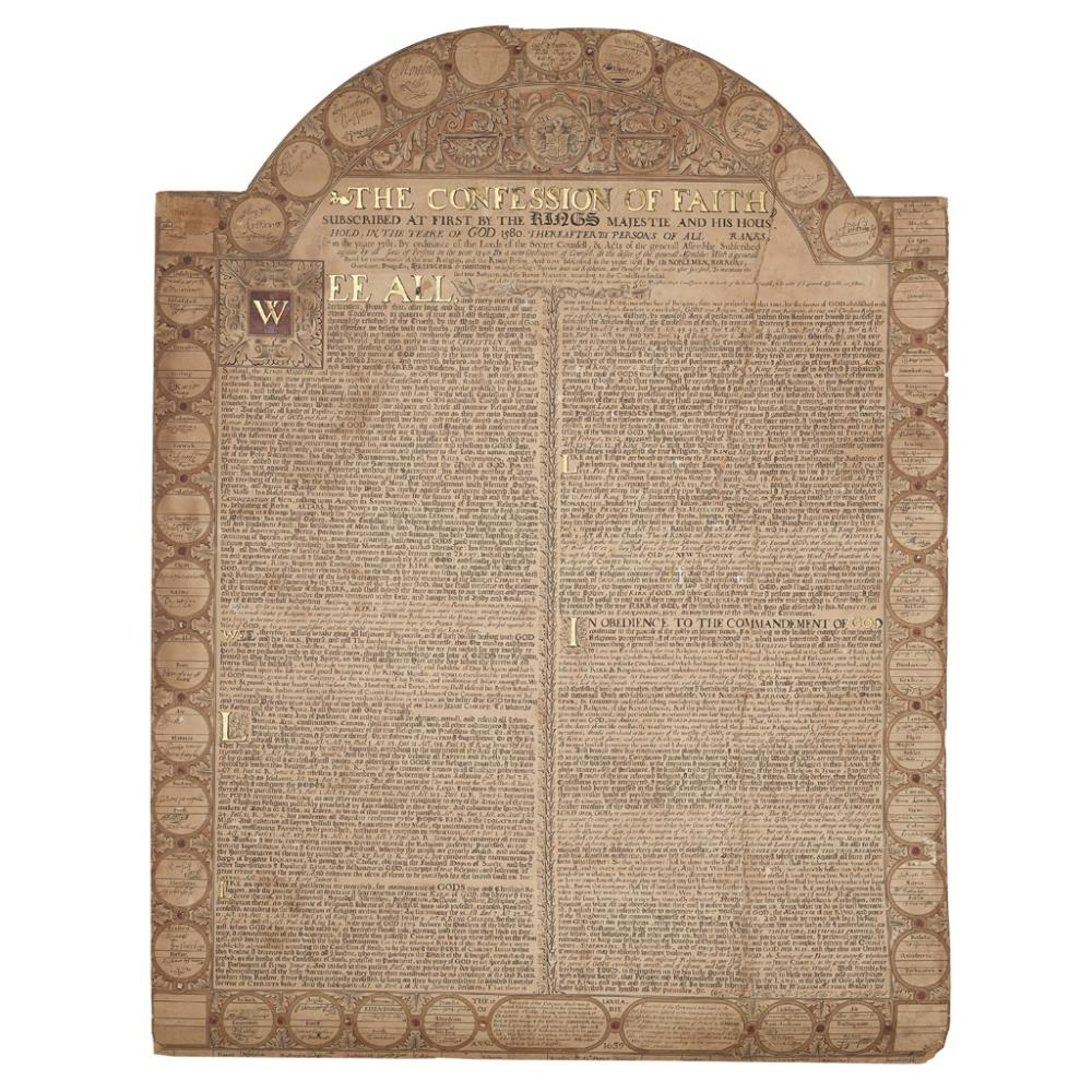 NATIONAL COVENANT, FACSIMILE OF, [1639] EDINBURGH:  R. D. DAVIDSON, [1848?]