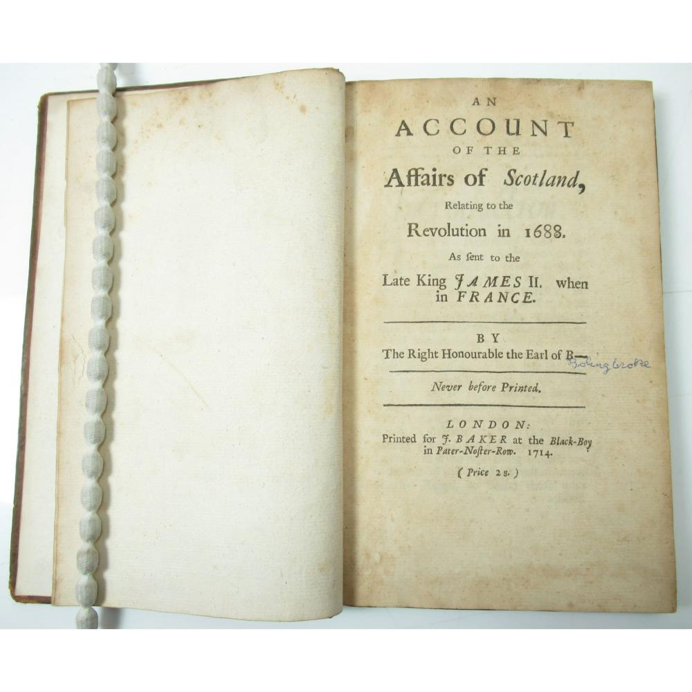 [LINDSAY, COLIN], EARL OF B[ALCARRES] AN ACCOUNT OF THE AFFAIRS OF SCOTLAND