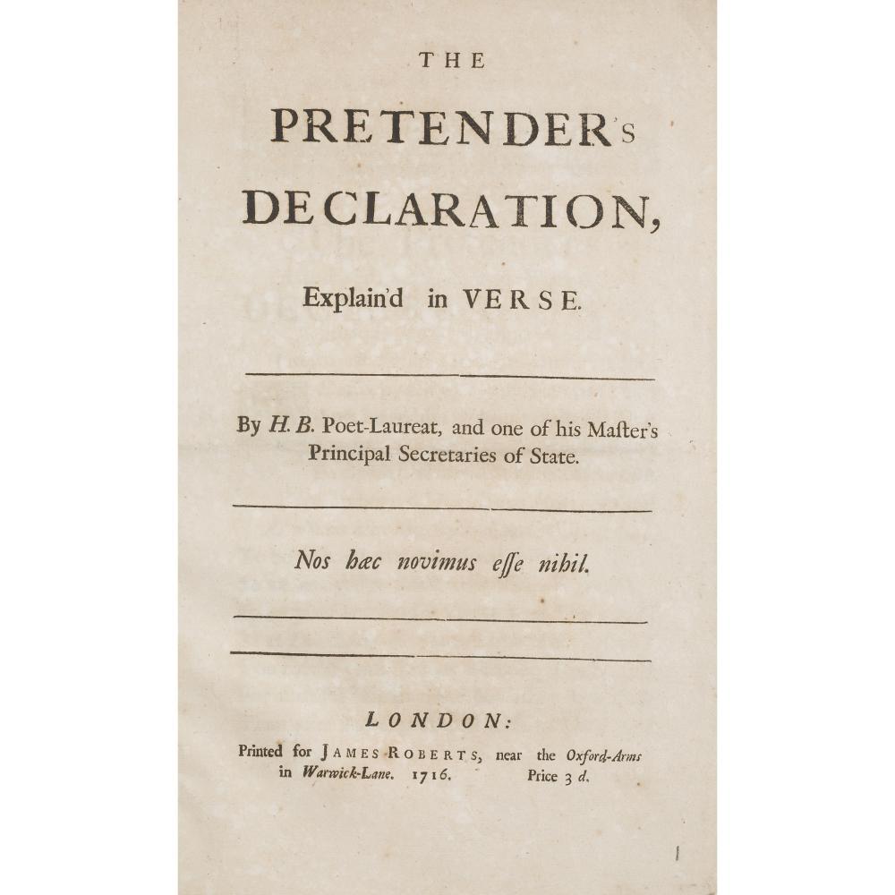 B.H. THE PRETENDER'S DECLARATION