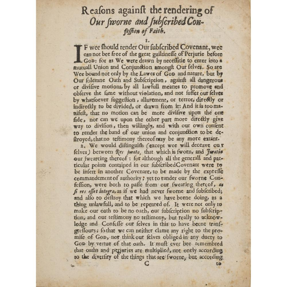 17TH CENTURY PAMPHLETS, 8 VOLUMES, COMPRISING [WARRISTON, ARCHIBALD JOHNSON, LORD]