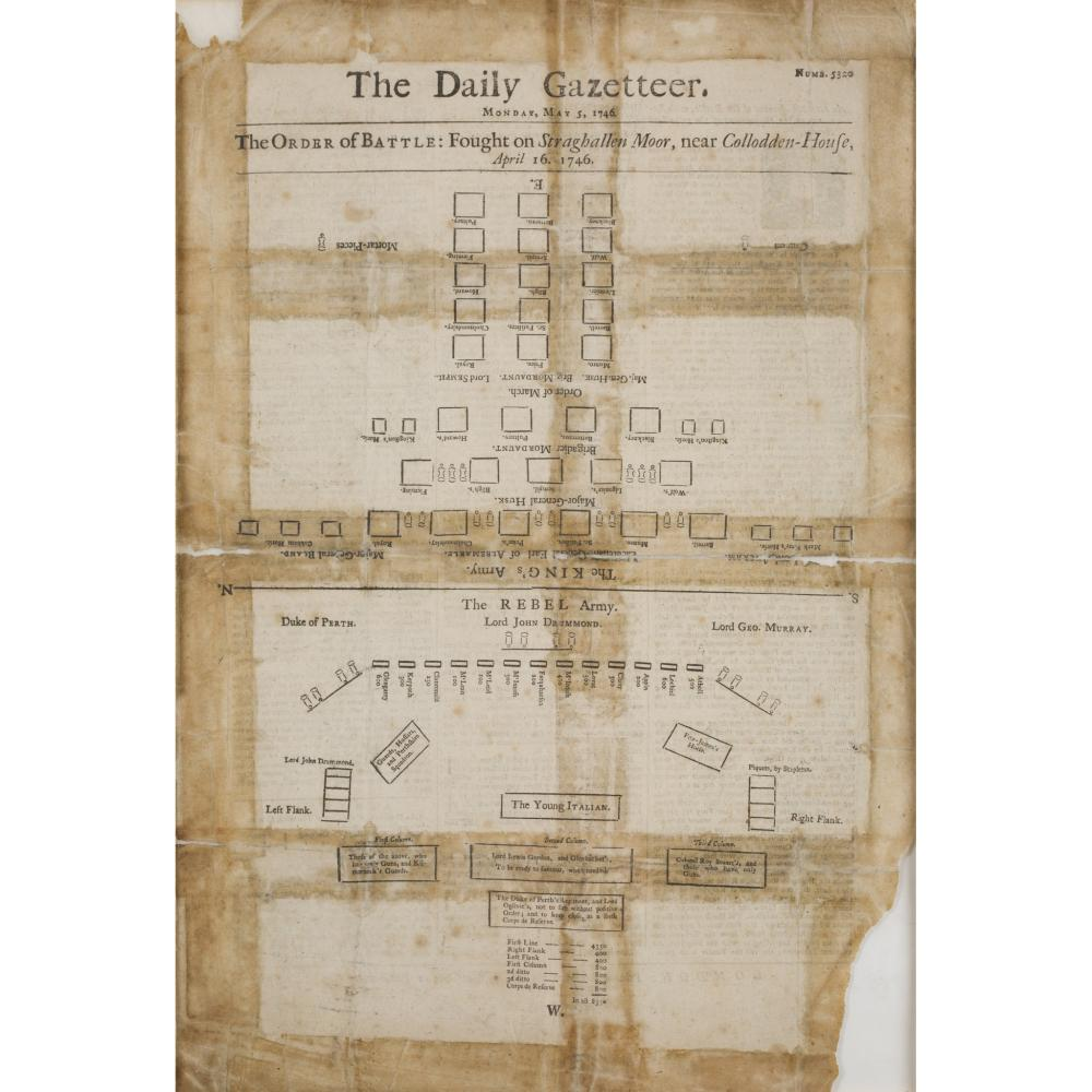 BATTLE OF CULLODEN THE DAILY GAZETTEER, MONDAY MAY 5, 1746