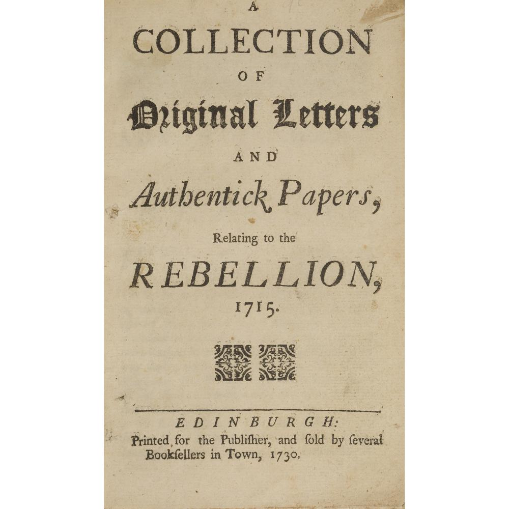 JACOBITE & OTHER PAMPHLETS 1730-1743, 8 ITEMS COMPRISING RAMSAY, CHEVALIER (ANDREW MICHAEL)