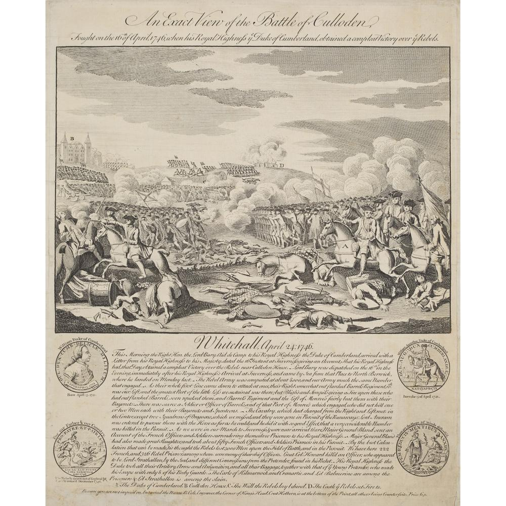 JACOBITE ENGRAVINGS, A COLLECTION, INCLUDING THE HIGHLAND CHACE OR THE PURSUIT OF THE REBELS, 21 FEB. 1745
