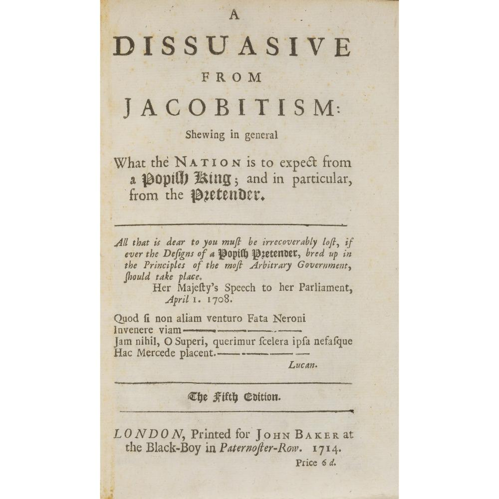 JACOBITE PAMPHLETS - 1714 A COLLECTION OF 11 ITEMS, COMPRISING ASGILL, [JOHN]