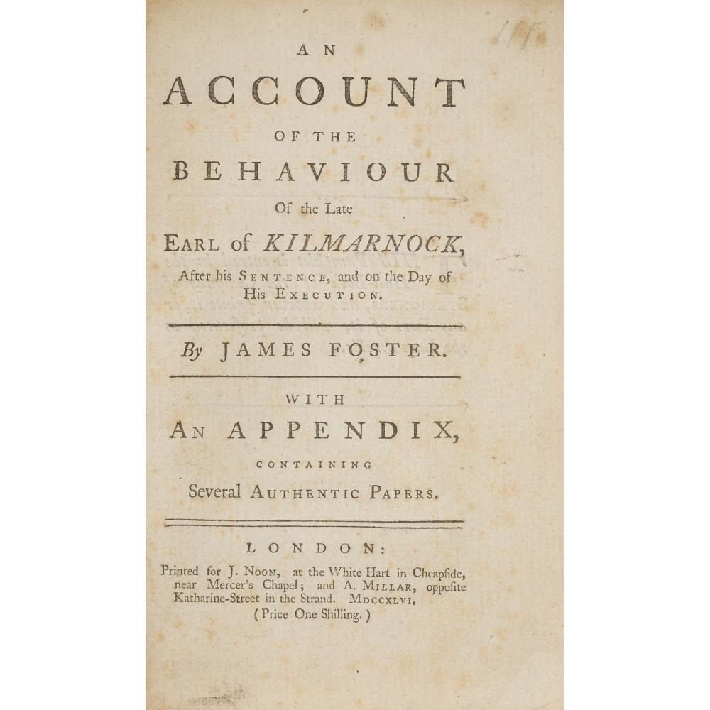 JACOBITE PAMPHLETS - 1746 18 ITEMS, COMPRISING: