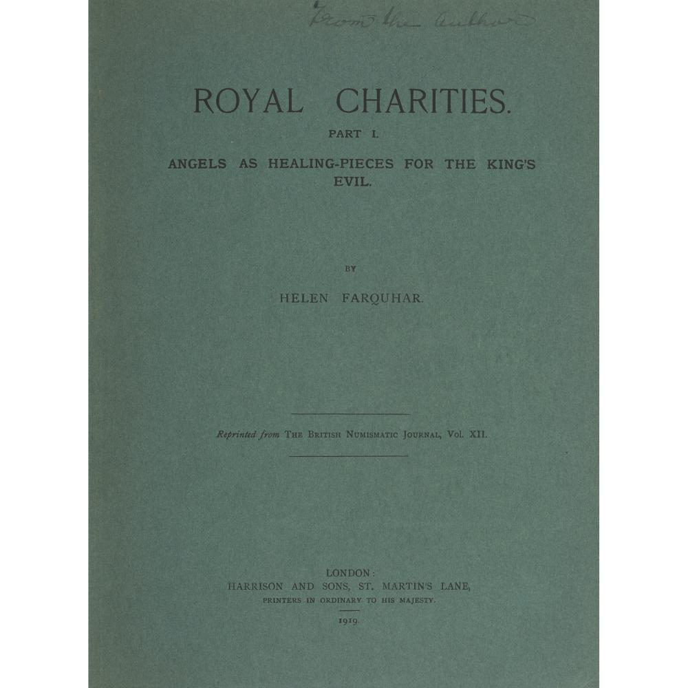 JACOBITE MEDALS AND TOUCH-PIECES 7 VOLUMES, COMPRISING FARQUHAR, HELEN