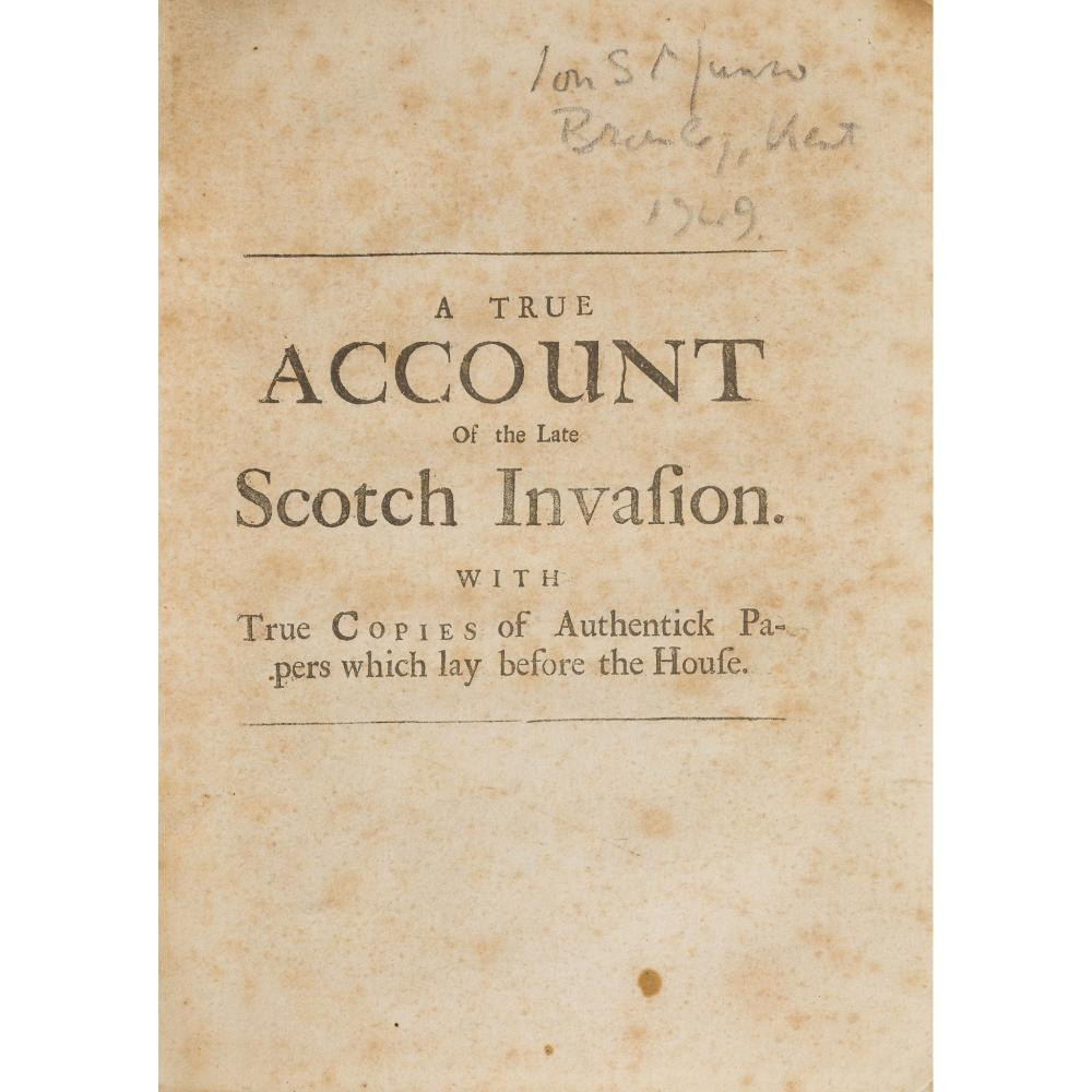 JACOBITE PAMPHLETS, 1708-1712 11 ITEMS COMPRISING: