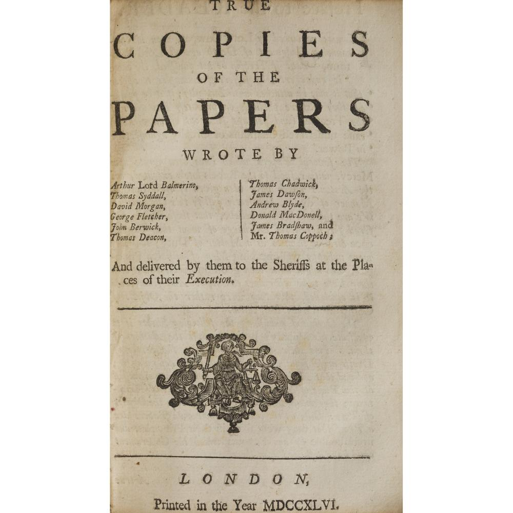 JACOBITE PAMPHLETS 15 ITEMS IN ONE VOLUME, COMPRISING [STUART, CHARLES EDWARD]