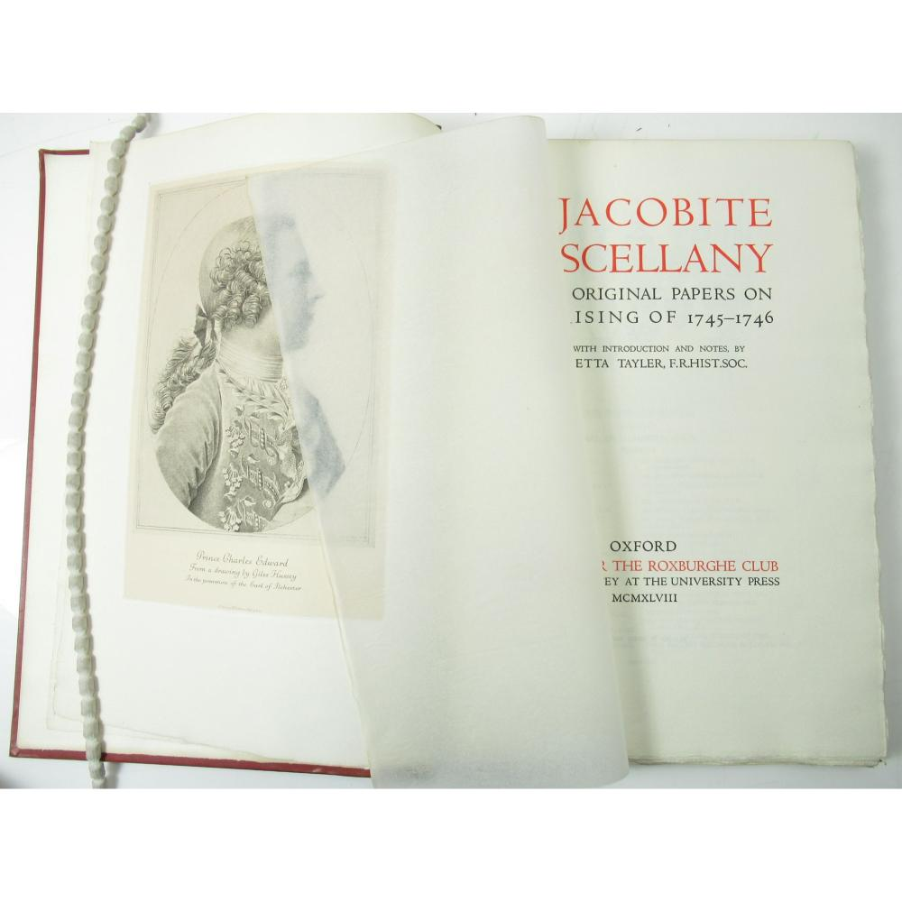 ROXBURGHE CLUB - JACOBITE INTEREST A JACOBITE MISCELLANY. EIGHT ORIGINAL PAPERS ON THE RISING OF 1745-1746